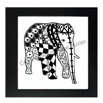 Zentangle Elephant Vinyl Template